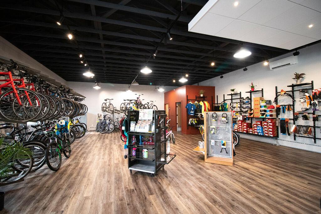 Inside Gorham Bike and Ski